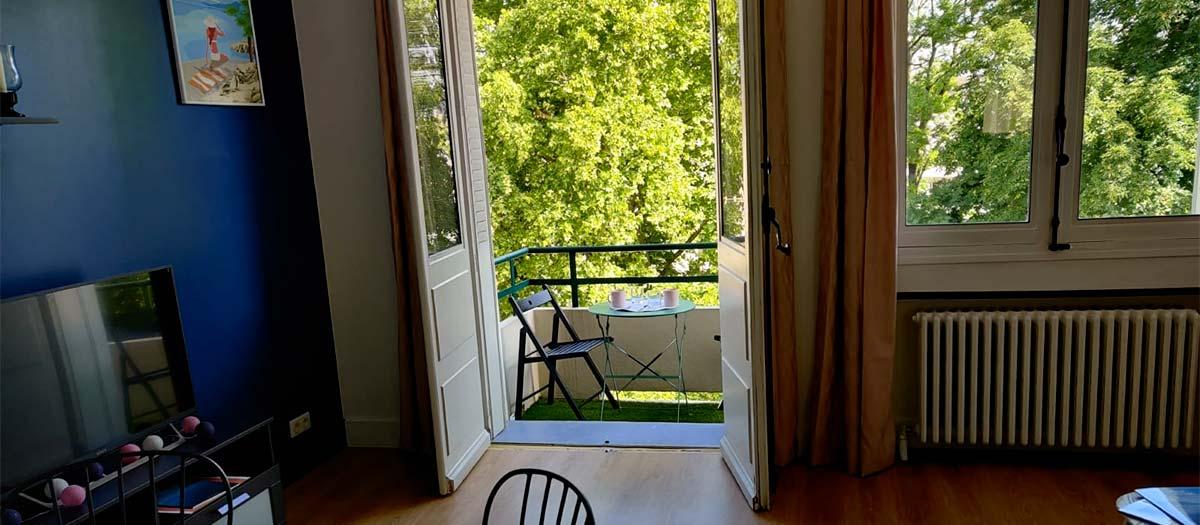 petit balcon vue parc